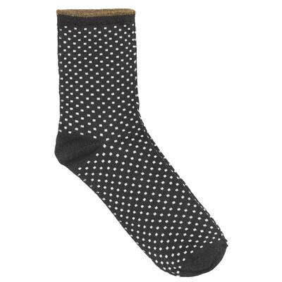 Dina Small Dots Socks - Black