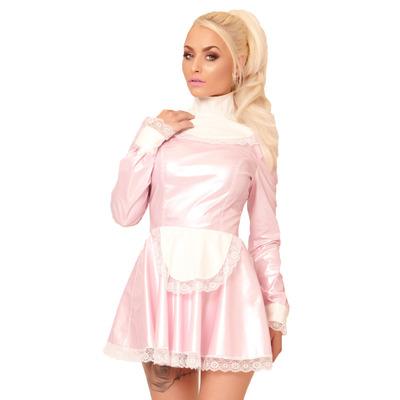 Pink PVC Melody Maid Dress