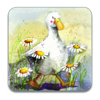 Alex Clarks Duck In The Daisies Coaster