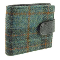 Glen Appin Barra Harris Tweed Coin Wallet - Green Tartan