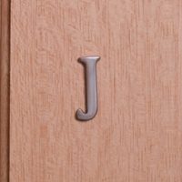 Self Adhesive 40mm Aluminium Letter J
