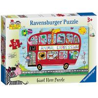 Ravensburger Rachel Ellen - Animal Express, 24pc Giant Floor Jigsaw Puzzle