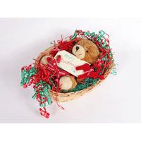 New Born Baby Christmas Hamper - Bear In A Basket