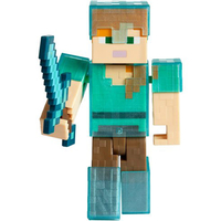 Minecraft Alex In Diamond Armor Action Figure
