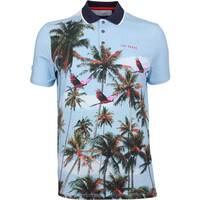 Ted Baker Golf Shirt - Toney Photo Print Polo - Blue AW18