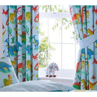 Dinosaur World Blackout Curtains 72s