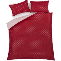 Catherine Lansfield Polka Dot Single Duvet Set Red