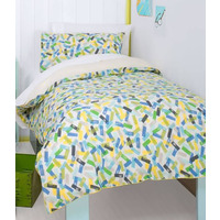 Blue Sprinkles Double Duvet - Hiccups, 100% Cotton