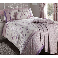 Dusky Pink / Mauve, Ribbon Trimmed Single Bedding - Fleur