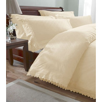 Balmoral, Cream Broderie Anglaise Super King Size Bedding