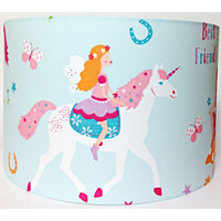 Magical Unicorn Large Fabric Light Shade - Pink