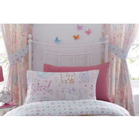 Cats, Girls Pink Curtains 72s