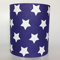 Etoile, Blue Star Medium Fabric Light Shade