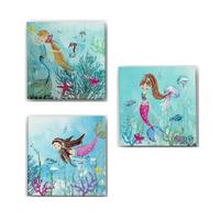 Mermaid World Canvas Art - Set of 3