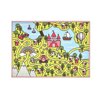 Unicorn Fairy Tale World Playmat - 100 x 130 cm