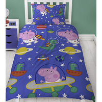George Pig Single Bedding - Planets
