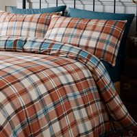 Catherine Lansfield Heritage Kelso Check Single Bedding - Spice