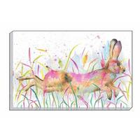 Watercolour Hare Canvas Art, 30 x 40 cm