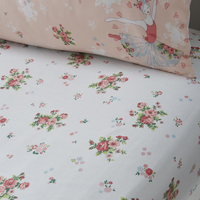 Sabrina Ballerina Floral Toddler Fitted Sheet