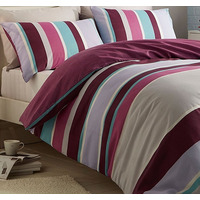 Textured Purple Stripe Single Bedding