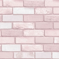Arthouse Diamond Brick Pink Glitter Wallpaper