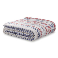 Catherine Lansfield Brushed Printed Knit Throw, Natural