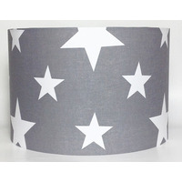 White Star, Grey Large Fabric Light Shade