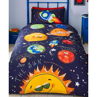 Catherine Lansfield Happy Space Easy Care Single Duvet Set Navy