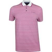 Ted Baker Golf Shirt - Hazelnt Geo Polo - Fuchsia SS19