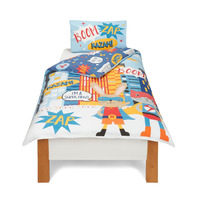 Super Animals, Childrens Single Duvet Cover Set