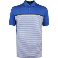 Nike Golf Shirt - TW Vapor Stripe - Gym Blue SS19