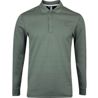 adidas Golf Shirt - LS Thermal Polo - Legend Earth AW19