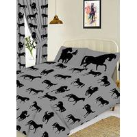 Horse Black King Bedding