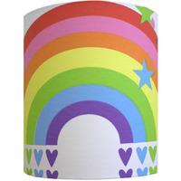 Clouds and Rainbows Medium Fabric Light Shade