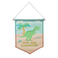 Roarsome Dinosaur T-Rex Wall Banner