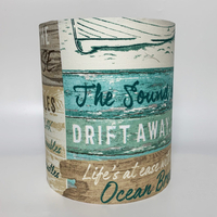 Driftwood Medium Fabric Light Shade