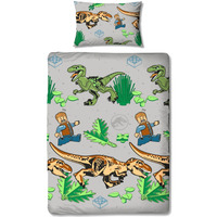 Lego Jurassic World Single Duvet Set - Foliage