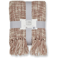 Catherine Lansfield Tonal Weave Blanket - Blush Pink