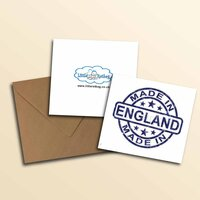 Made In England Greetings Card