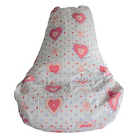 Hearts, Girls High Back Bean Chair