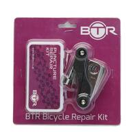 BTR Cycling Bicycle Puncture Repair Kit Including Multi Tool
