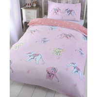 Ellie Pastel Elephant Single Duvet