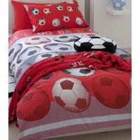 Catherine Lansfield Kids, Red Football Duvet Sets