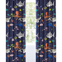 Sea Life Glow in the Dark Curtains 72s