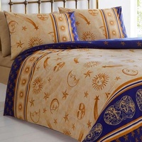 Gold Cosmos Moon And Stars Super King Size Duvet