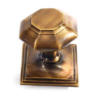 Antique brass centre door knob