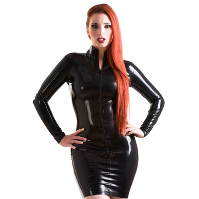 Short Mistress Latex Dress