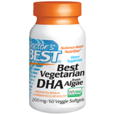 Doctors Best Vegetarian Dha From Algae - 60 X 200mg Veggie Softgels