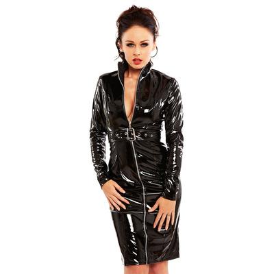 Pvc Dominator Dress Black