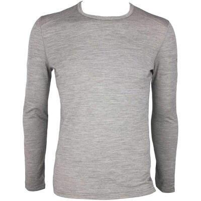 Icebreaker Oasis Crew Merino Golf Base Layer Heather AW15